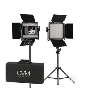 GVM Bi-color LED Studio Video 2-panel Light Kit | Accessories & Supplies for Electronics for sale in Lagos State, Ikeja