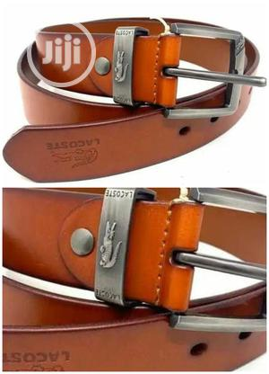 Original Lacoste Leather Belt | Clothing Accessories for sale in Lagos State, Lagos Island (Eko)