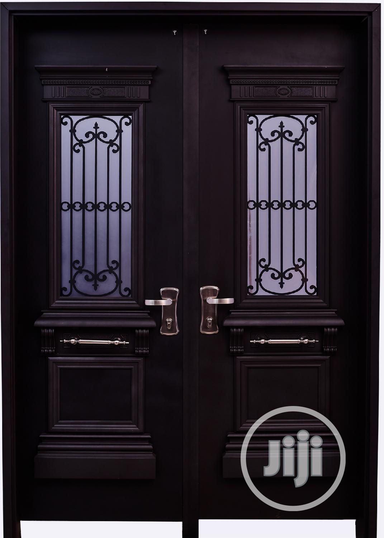 Dav002 Isreali Security Door With Glass