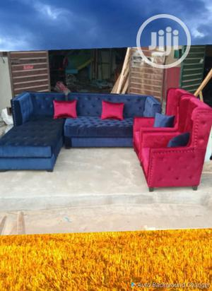 L Shape Leather Chair With Single and Ottoman Center Table. | Furniture for sale in Lagos State, Ikeja
