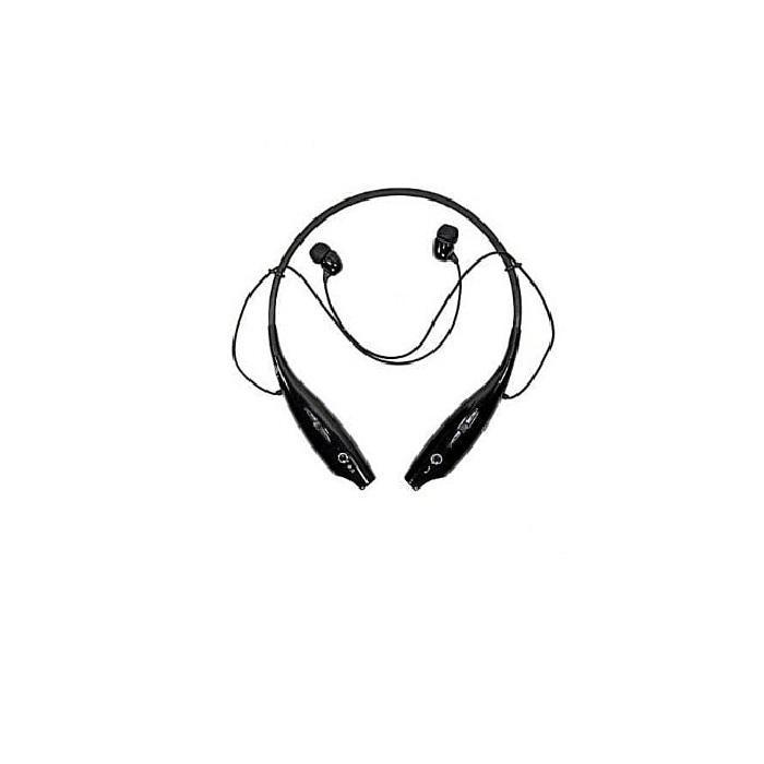 Wireless Bluetooth Stereo Headset Earpiece- Black