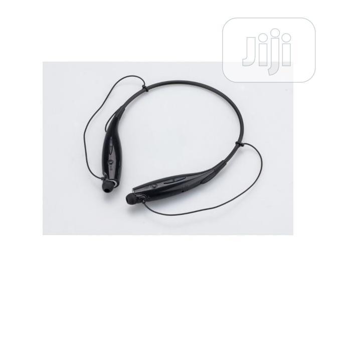 Wireless Bluetooth Stereo Headset Earpiece- Black | Headphones for sale in Amuwo-Odofin, Lagos State, Nigeria