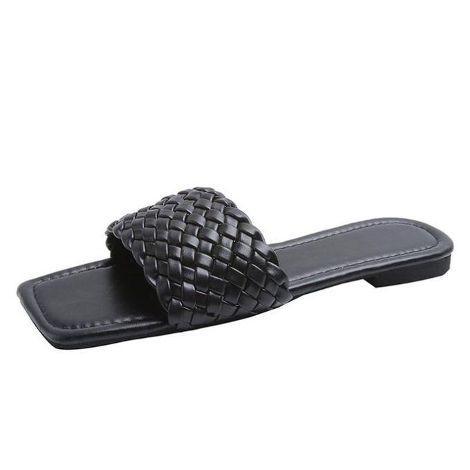 Classic Ladies Knockabout Flat Slippers - Black   Shoes for sale in Amuwo-Odofin, Lagos State, Nigeria