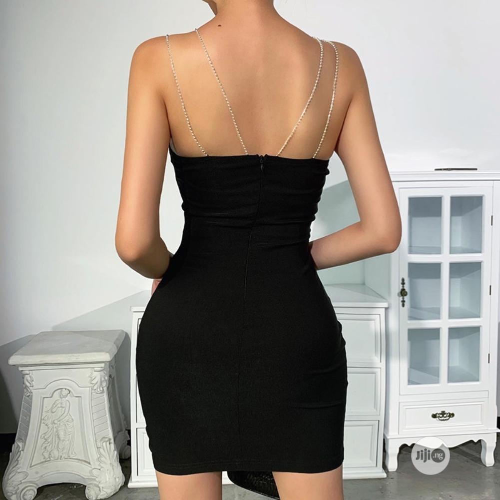 Sexy Black Straps Mini Dress | Clothing for sale in Lekki, Lagos State, Nigeria