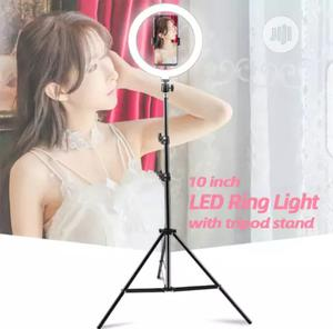 10 Inches Ring Light With 6ft Tall Adjustable Tripod Stand | Accessories & Supplies for Electronics for sale in Lagos State, Ikorodu
