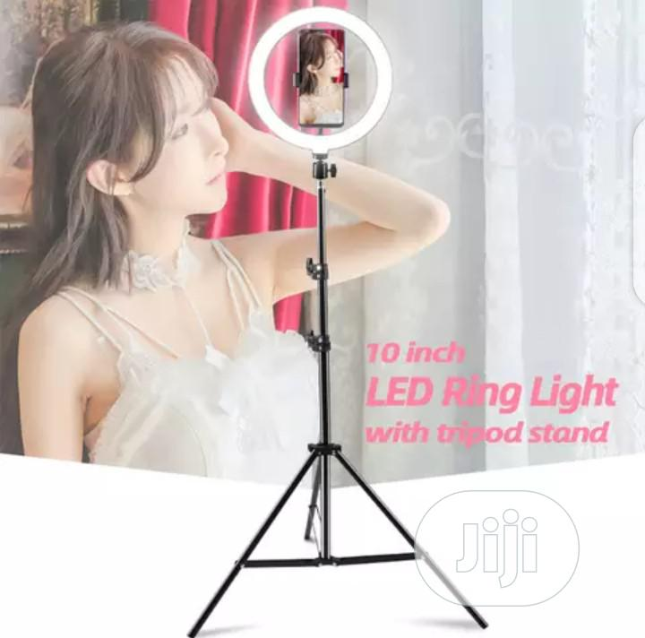 10 Inches Ring Light With 6ft Tall Adjustable Tripod Stand