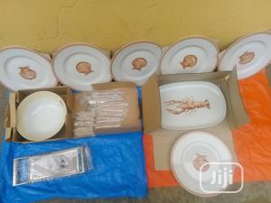 Set of 9 Breakable Plates for Dinning With Cutleries | Kitchen & Dining for sale in Lagos State