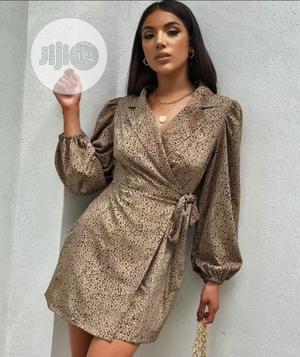 Autumn Elegant Print Pop Sleeves Wrapped Blazer Dress   Clothing for sale in Lagos State, Lekki
