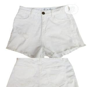 Ladies Denim Bumshorts- White | Clothing for sale in Lagos State, Ikeja