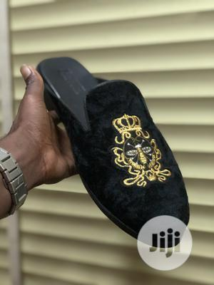 Black Velvet Monogram Half Shoe   Shoes for sale in Lagos State, Mushin