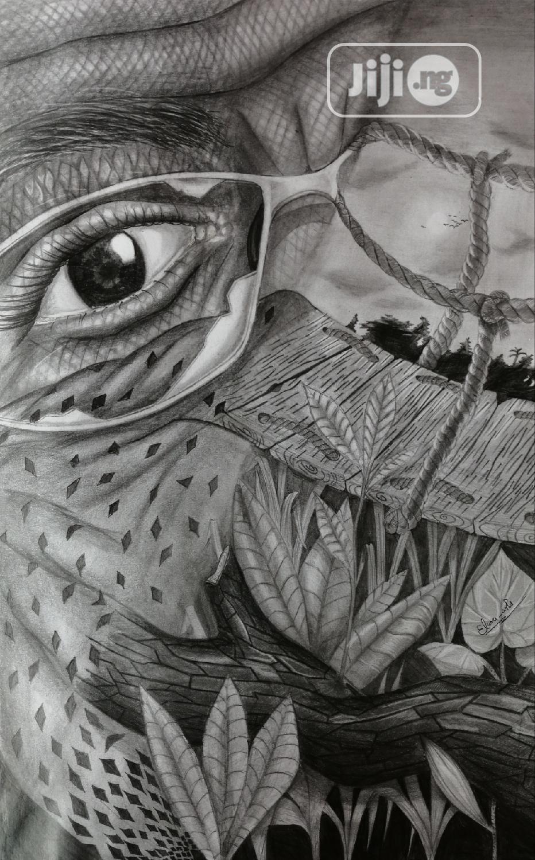 Abstrakt Pencil Artwork