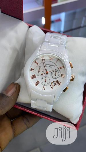 Emperor Armani Ceramic Watch With Working Chronograph   Watches for sale in Lagos State, Ojo