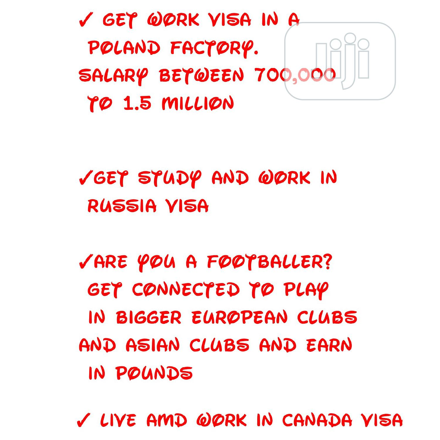 Travel, School and Work Visa for Canada, Russia and Poland