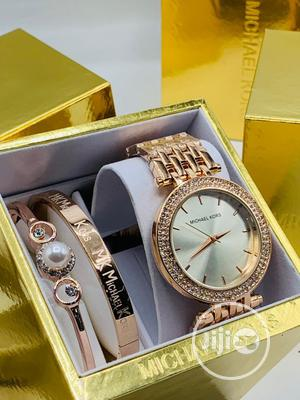 High Quality Michael Kors Gold Silver Stainless Steel Watch | Watches for sale in Lagos State, Magodo