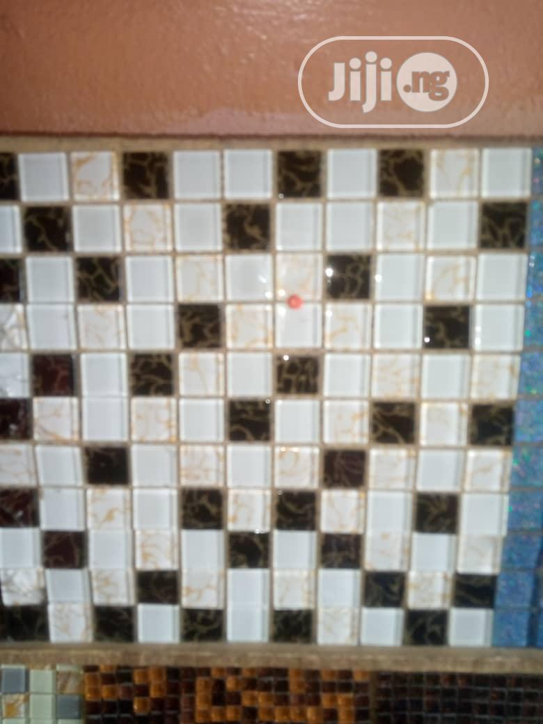 White and Black Mosaic Tiles