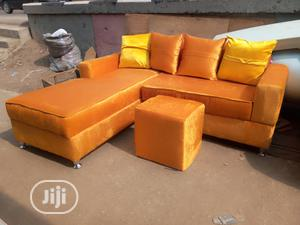 Portable L Shape Fabric With Puff Table   Furniture for sale in Lagos State, Ikeja