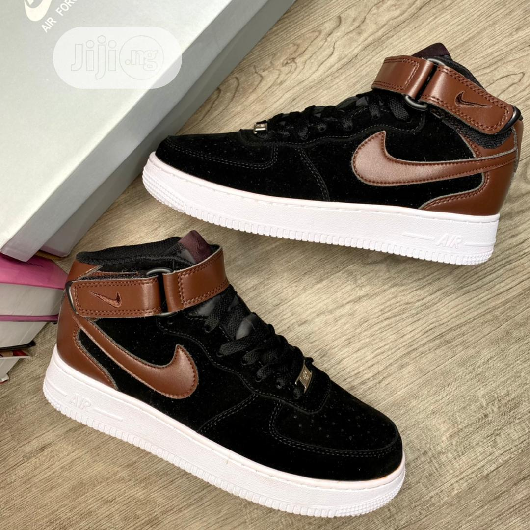 Nike Airforce 1 High Black/Earthbrown Now Available in Store | Shoes for sale in Lagos Island (Eko), Lagos State, Nigeria