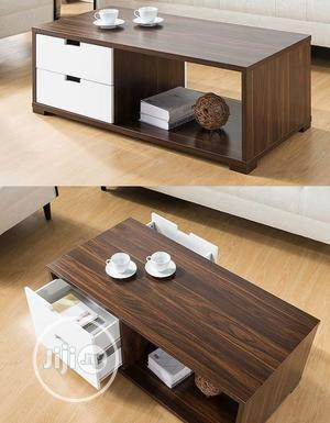 White and Brown Center Table With Drawers   Furniture for sale in Lagos State, Oshodi