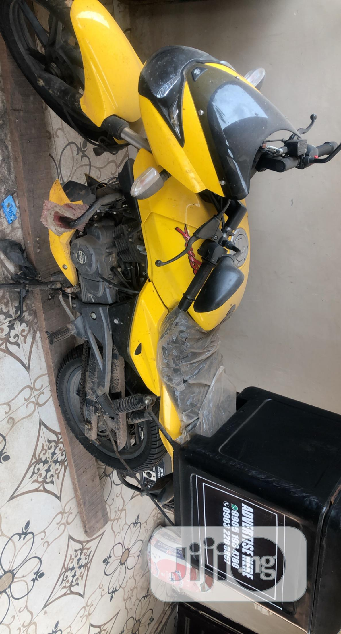 New Bajaj 2019 Yellow | Motorcycles & Scooters for sale in Benin City, Edo State, Nigeria