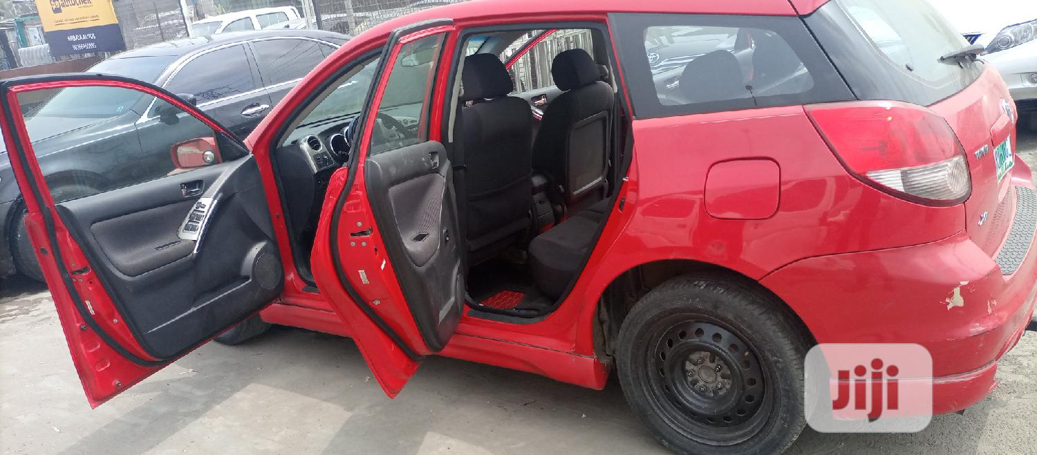 Archive: Toyota Matrix 2003 Red