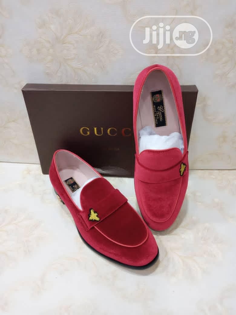 Gucci Red Suede Shoe for Men