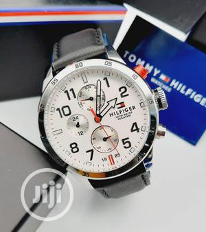 High Quality Tommy Hilfiger Leather Watch for Man | Watches for sale in Lagos State, Magodo