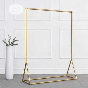 Gold Chrome Standing Cloth Rack   Home Accessories for sale in Lagos State, Lagos Island (Eko)