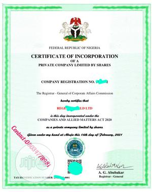 Cac Business Registration | Legal Services for sale in Lagos State, Ikeja