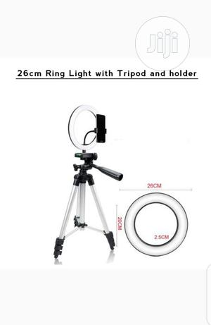 26cm Ring Light With Tripod Stand and Phone Holder. | Accessories & Supplies for Electronics for sale in Lagos State, Ikeja