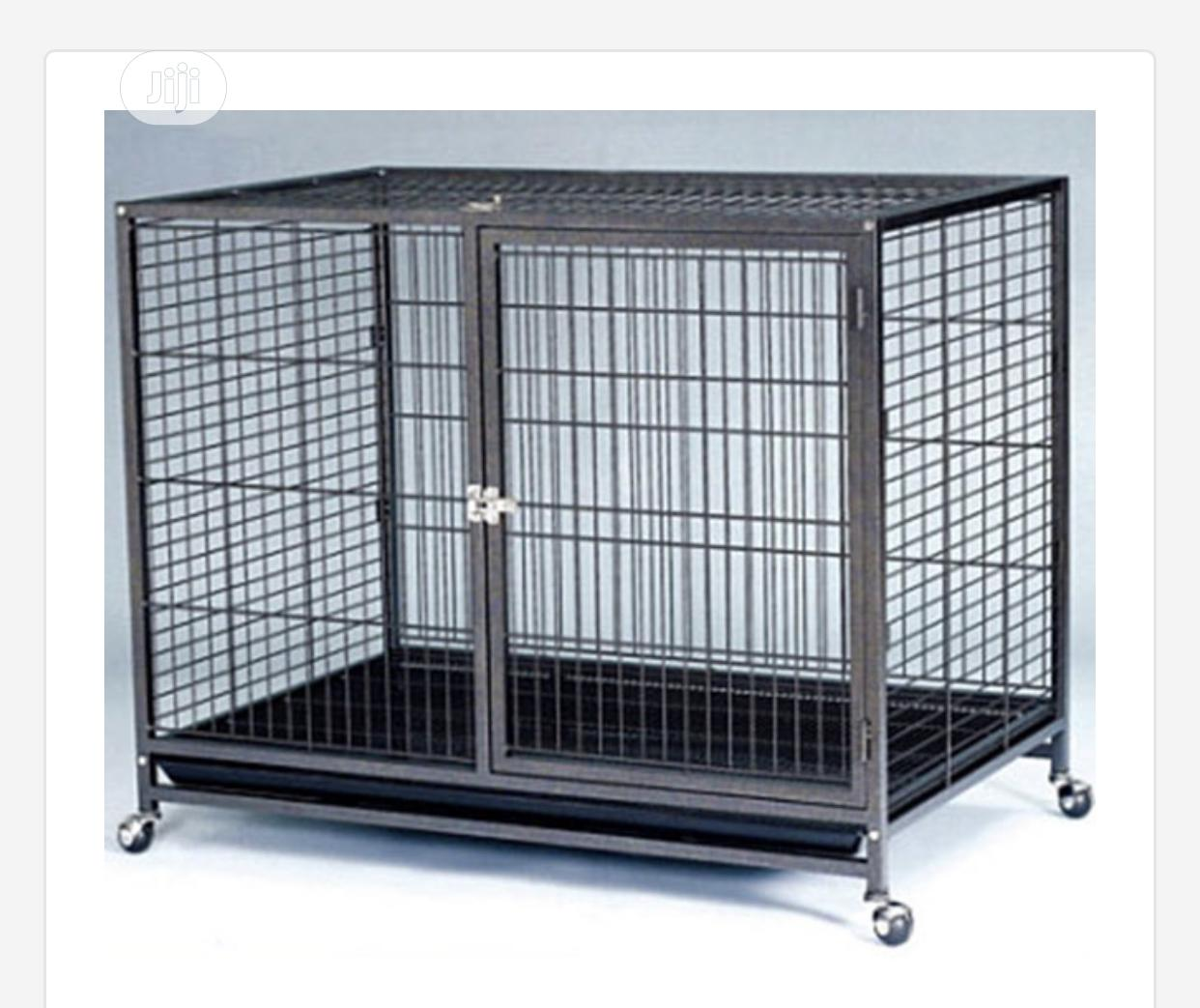 Archive: Indoor Metal Dog Cage(With Trolley and Plastic Tray)