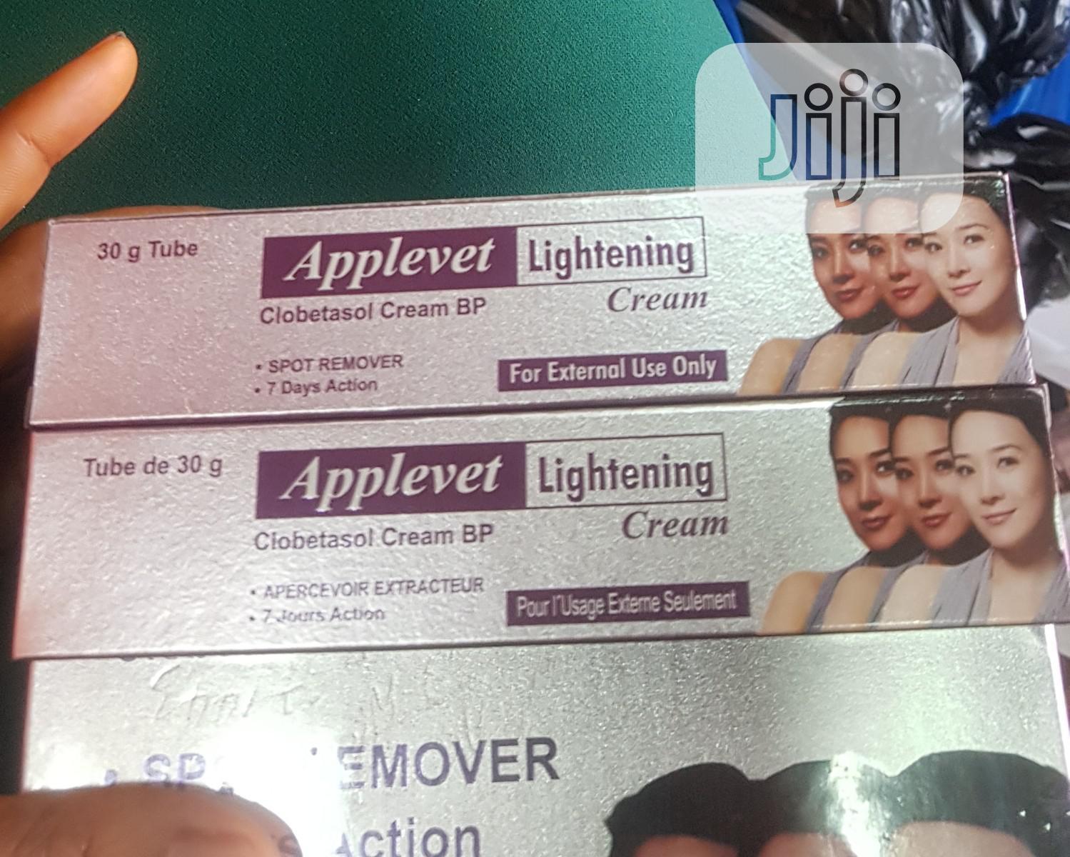 Applevet Lightening Cream | Skin Care for sale in Ikeja, Lagos State, Nigeria