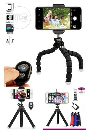 Flexible Octopus Phone Holder With Wireless Bluetooth Remote   Accessories & Supplies for Electronics for sale in Lagos State, Ikeja
