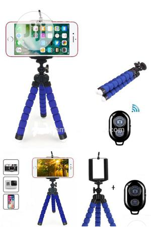 Octopus Flexible Phone Holder With Bluetooth Remote. Blue   Accessories & Supplies for Electronics for sale in Lagos State, Ikeja