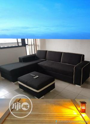 L Shape Leather Chair With Ottoman Center Table. | Furniture for sale in Lagos State, Ikeja