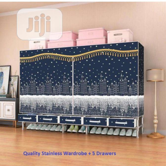 Quality Wardrobe +5 Drawers ( Big Size L-200x B-45x H-172cm)