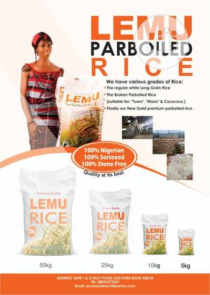 LEMU Premium Parboiled Rice   Meals & Drinks for sale in Abuja (FCT) State, Karu