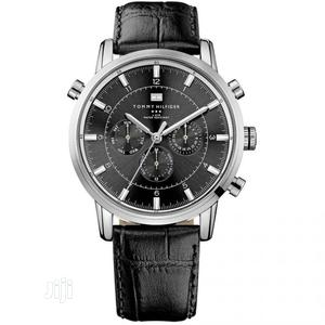 High Quality Tommy Hilfiger Black White Dial Leather Watch | Watches for sale in Lagos State, Magodo