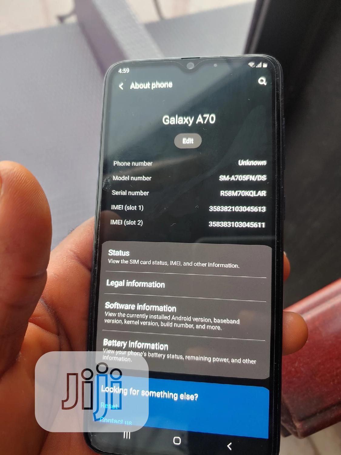 Samsung Galaxy A70 128 GB Blue | Mobile Phones for sale in Victoria Island, Lagos State, Nigeria