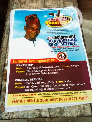 Print Wedding Card Obituary   Printing Services for sale in Lagos State, Alimosho