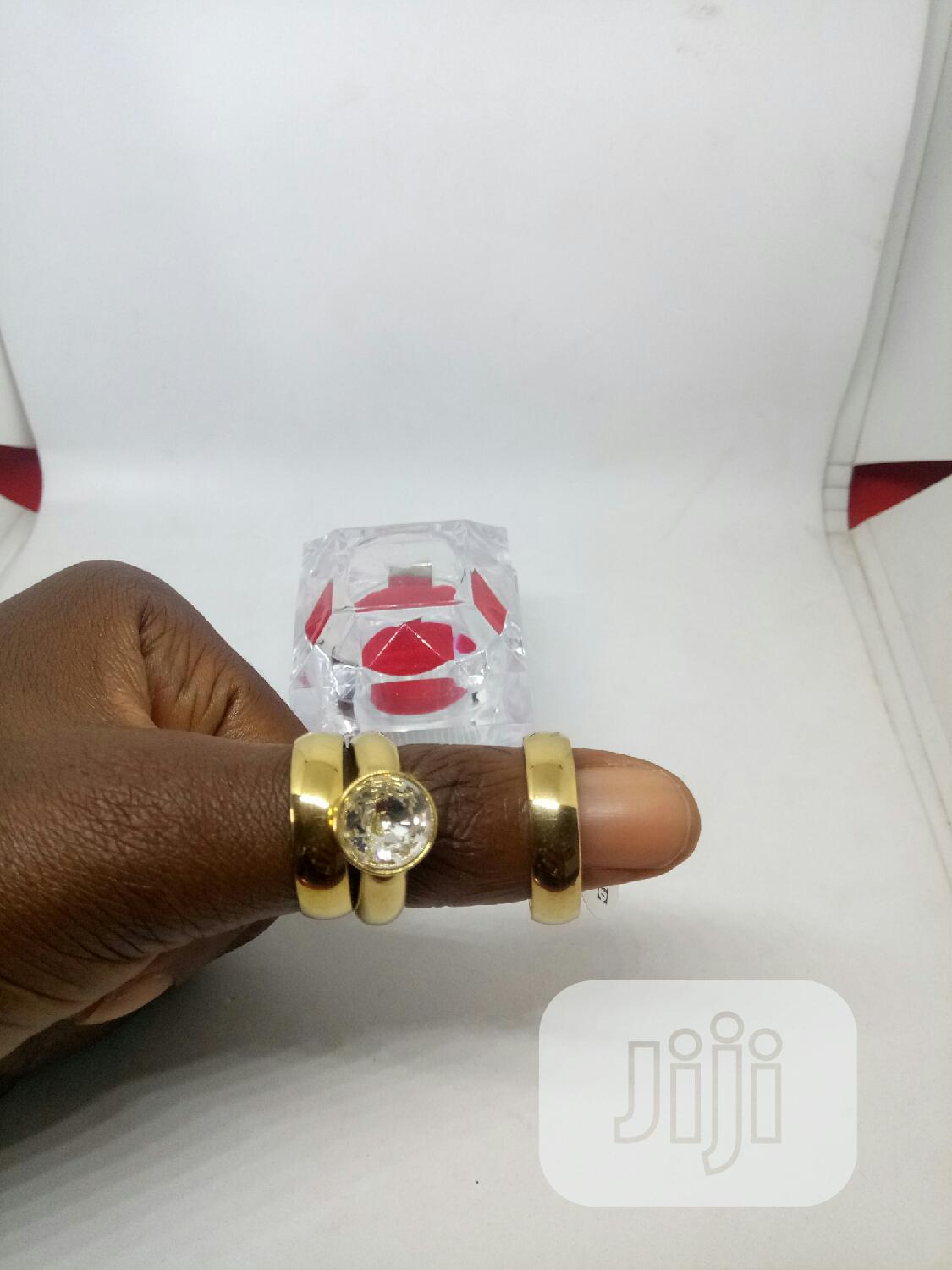 Rose Indiana Couples Set of Wedding Ring 0012 - Gold | Wedding Wear & Accessories for sale in Ojodu, Lagos State, Nigeria