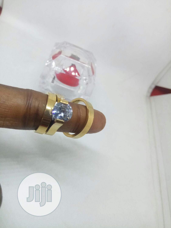 Rose Indiana Couples Set of Wedding Ring 0013 - Gold