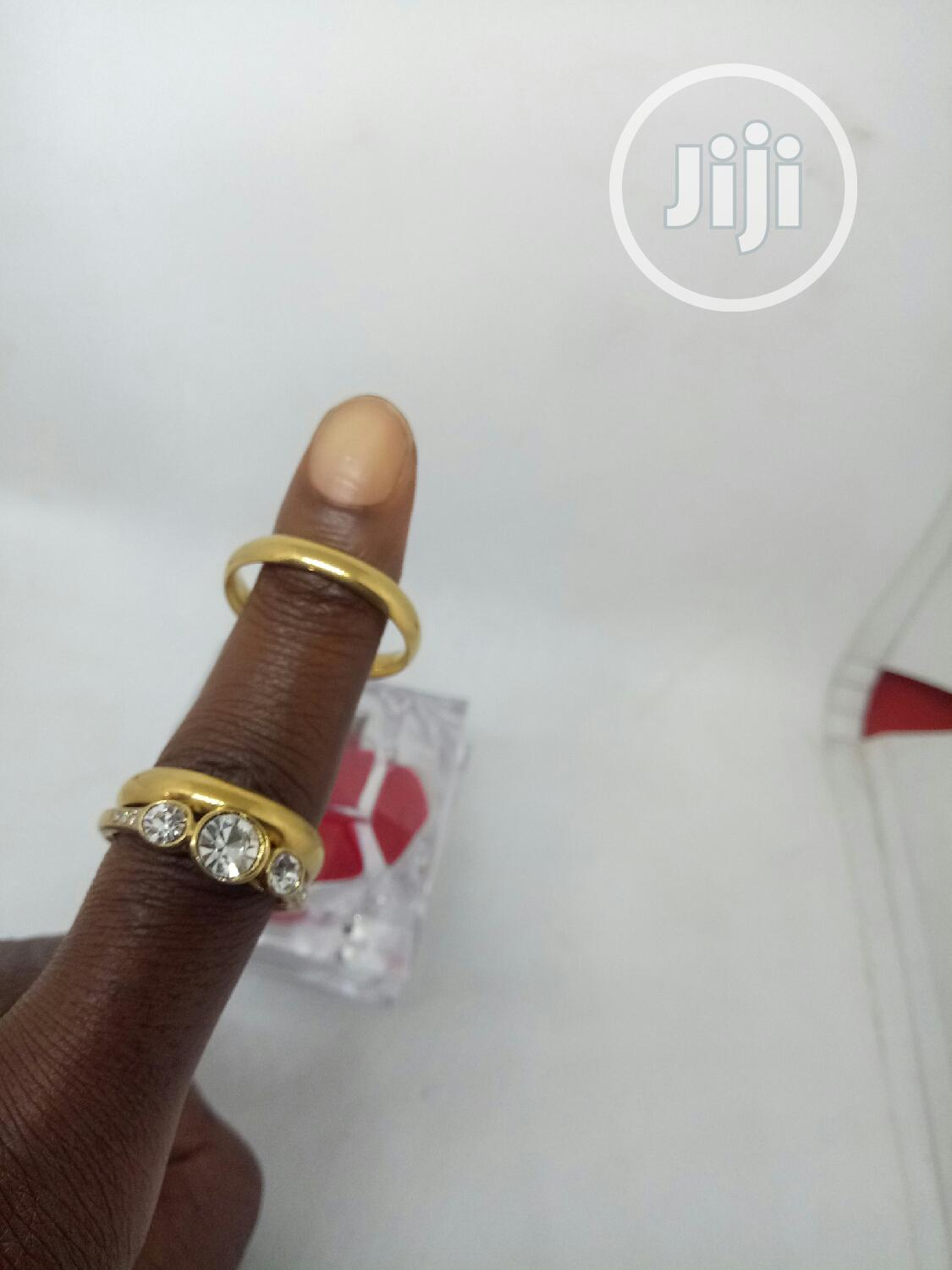 Rose Indiana Couples Set of Wedding Ring 0001- Gold | Wedding Wear & Accessories for sale in Ojodu, Lagos State, Nigeria