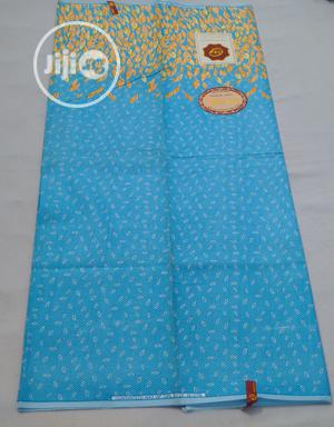 Turquoise Blue Patterned Ankara Wax - 6 Yards | Clothing for sale in Abuja (FCT) State, Kubwa