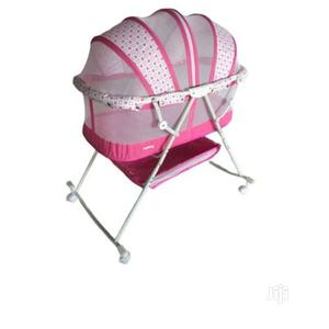 Quality Baby Crib Bassinet With Mosquito Net - Pink   Children's Furniture for sale in Lagos State, Surulere