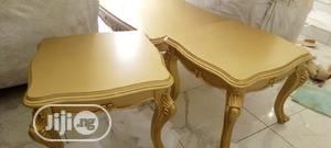 Quality Royal Center Table and Two Side Stool Gold | Furniture for sale in Lagos State, Magodo