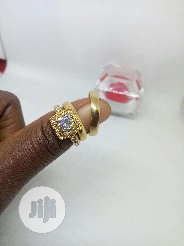 Rose Indiana Couples Set of Wedding Ring 0015 - Gold