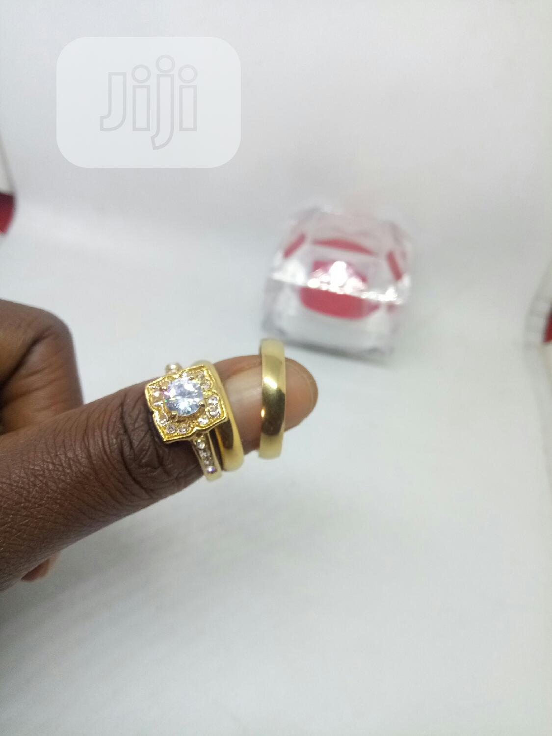 Rose Indiana Couples Set of Wedding Ring 0015 - Gold | Wedding Wear & Accessories for sale in Ojodu, Lagos State, Nigeria