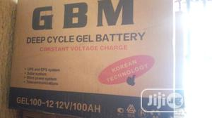 12v 100ah GBM Deep Cycle Gel Battery   Solar Energy for sale in Lagos State, Ojo
