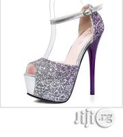 Purple Rhinestones High Heel Sandals | Shoes for sale in Osun State