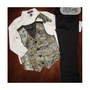 Phat Farm Toddler Boys Cotton Trouser, Shirt, Jacket And Tie   Children's Clothing for sale in Lagos State, Surulere